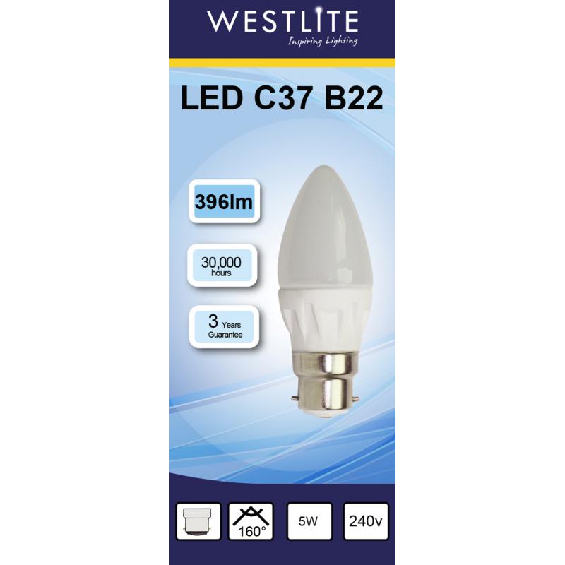 WESTLITE Candle C37 E14