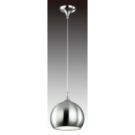 Cleo 1 Light Pendant - Sand Chrome