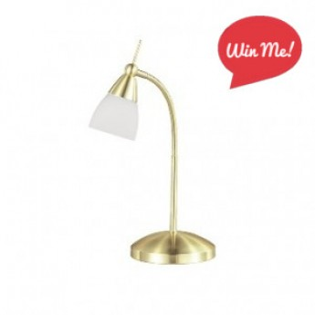 Flora Touch Desk Lamp - Satin Brass