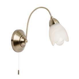 Petal 1lt wall 40W SW - antique brass