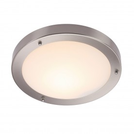 Portico flush IP44 60W - satin nickel