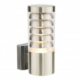Tango 1lt wall IP44 9.2W warm white - brushed stainless steel