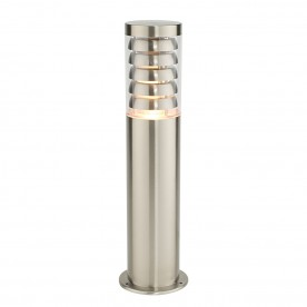 Tango post IP44 9.2W warm white floor - brushed stainless steel