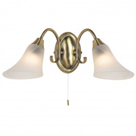 Hardwick 2lt wall 40W SW - antique brass