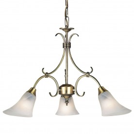 Hardwick 3lt pendant 40W - antique brass