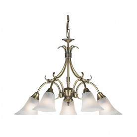Hardwick 5lt pendant 40W - antique brass