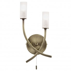 Havana 2lt wall 25W SW - antique brass