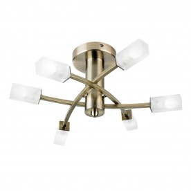 Havana 6lt semi flush 25W - antique brass