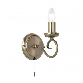 Trafford 1lt wall 60W SW - antique brass