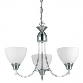 Alton 3lt pendant 60W - satin chrome