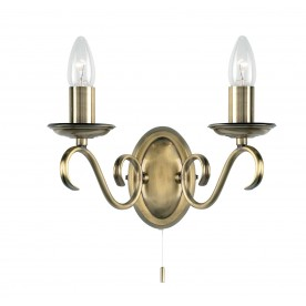 Bernice 2lt wall 60W SW - antique brass