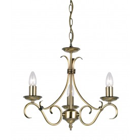 Bernice 3lt pendant 60W - antique brass