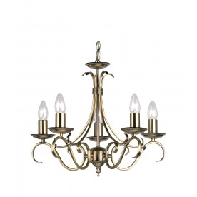 Bernice 5lt pendant 60W - antique brass