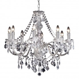 Clarence 8lt pendant 60W - clear acrylic