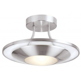 Firenz semi flush 120W - satin chrome