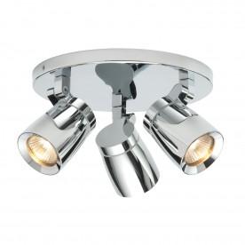 Knight 3lt round IP44 35W spot - chrome plate