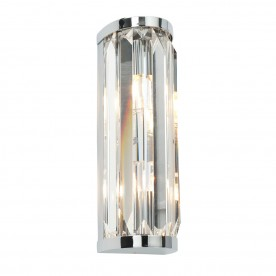 Crystal 2lt wall IP44 18W - chrome plate