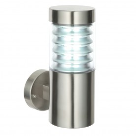 Equinox 1lt wall IP44 23W - marine grade brushed stainless steel