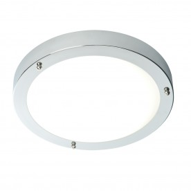 Portico LED flush IP44 9W cool white - chrome plate