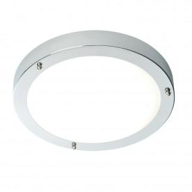 Portico LED flush IP44 9W cool white - chrome plate