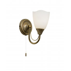 Haughton 1lt wall 60W SW - antique brass
