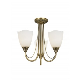 Haughton 3lt semi flush 60W - antique brass