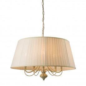 Chester 5lt pendant 40W - cream brushed gold off white faux silk