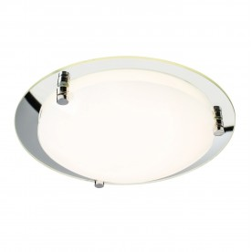 Foster 300mm flush 12W warm white - opal glass