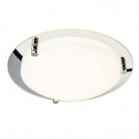 Foster 400mm flush 18W warm white - opal glass