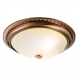 Athens 2lt flush 40W - antique copper