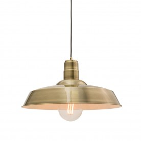 Moore 1lt pendant 60W - antique brass