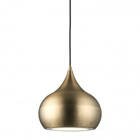 Brosnan 1lt pendant 18W cool white - matt antique brass