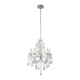 Tabitha 5lt pendant IP44 18W - clear crystal glass