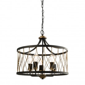 Heston 5lt pendant 60W - matt black