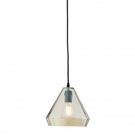 Gibson 1lt pendant 60W - tinted cognac glass