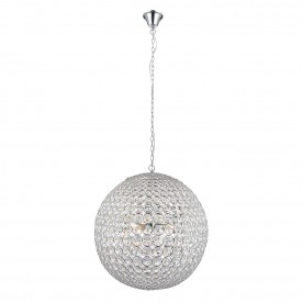 Miley 4lt pendant 60W - clear crystal glass