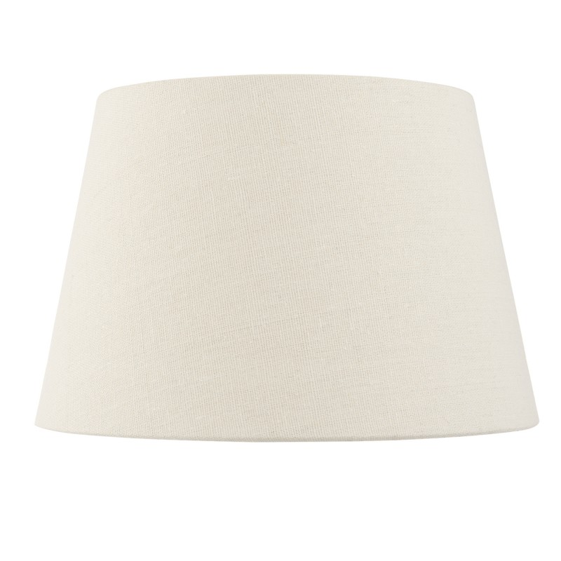 Cici 8 inch shade - ivory faux linen