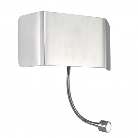 Verona 1lt wall & flexi 7.5W & 1W SW warm white - polished aluminium
