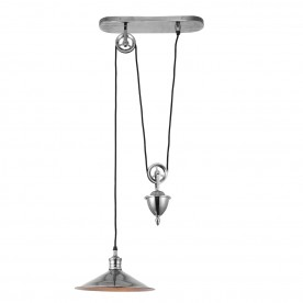 Victoria rise & fall pendant 40W - antique silver