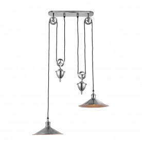 Victoria rise & fall 2lt pendant 40W - antique silver