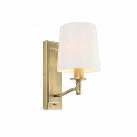 Ortona 1lt wall 40W SW - matt antique brass