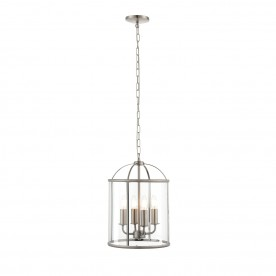 Lambeth 4lt pendant 40W - satin nickel