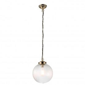 Brydon 1lt pendant 40W - clear ribbed glass