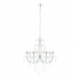 Tabitha 8lt pendant IP44 18W - clear crystal glass