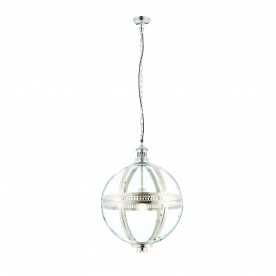 Vienna 410mm pendant 40W - bright nickel plated brass