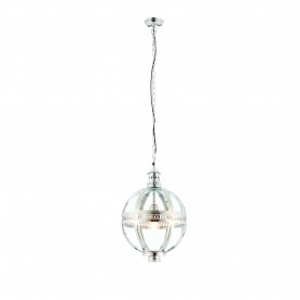 Vienna 305mm pendant 40W - bright nickel plated brass