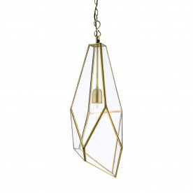 Avery 1lt pendant 40W - antique brass