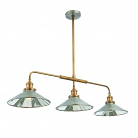 Tabyas 3lt pendant 7W semi flush - zinc antiqued solid brass