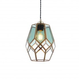 Ripley non electric 40W pendant - antiqued solid brass
