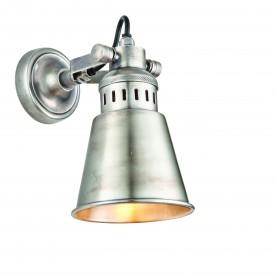 Elms 1lt wall 15W - tarnished silver finished brass